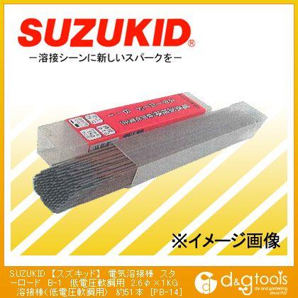 電気溶接棒 スターロード B-1 低電圧軟鋼用 溶接棒(低電圧軟鋼用)  φ2.6×1kg PB-14 約51 本