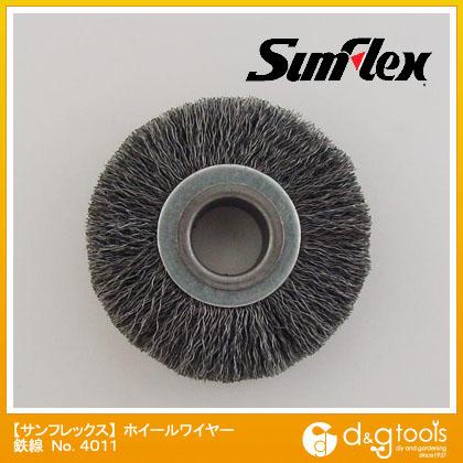 ホイールワイヤーブラシ 鉄線 0.15mm 50径×10厚 12.7穴 (No.4011)