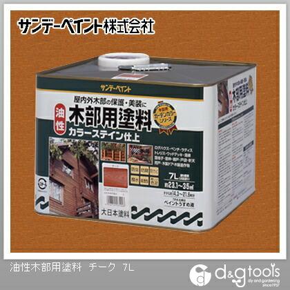 油性木部用塗料(屋内外木部用塗料) チーク 7L