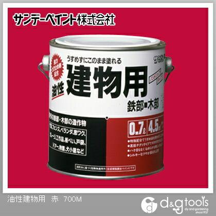 油性建物用(油性多目的塗料チクソタイプ)合成樹脂塗料 赤 0.7L