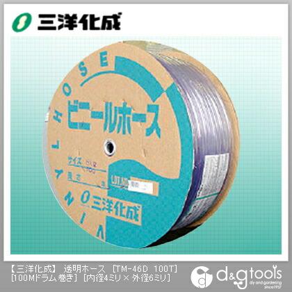 透明ホース(ドラム巻)  4mm×6mm×100Mドラム巻 TM-46D 100T