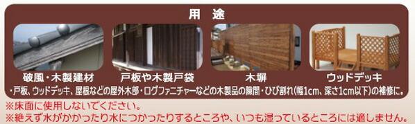 アサヒペン 簡単ワンタッチ 木部用ひび割れ・雨もれ防止補修材 こげ茶 200ml (W004)