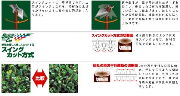 アルス 高枝電動バリカン DKR ショートチルト付 1.0m (DKR-0330T-BK)