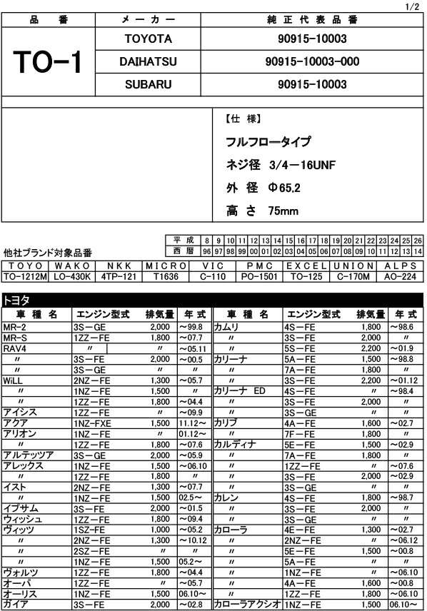 JAPAN MAX オイルフィルター