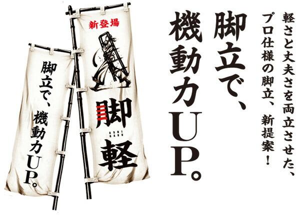 長谷川工業 脚軽 ASHIGARU 専用脚立 アルミ 天板高さ1.99m (RZ2.0-21)