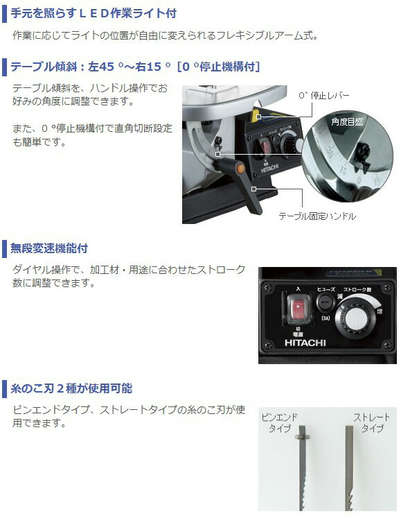日立工機 卓上糸鋸盤 (FCW40SA)