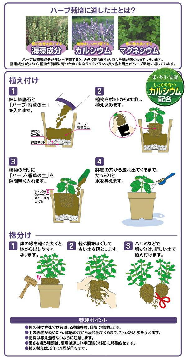 花ごころ ハーブ・香草の土 12L