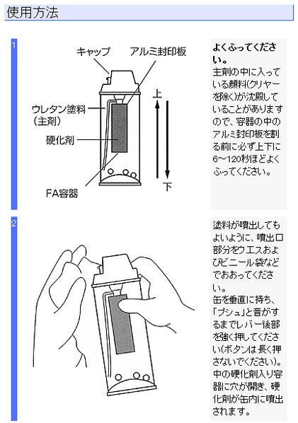 エアーウレタン/アクリルウレタンスプレー(2液タイプ)