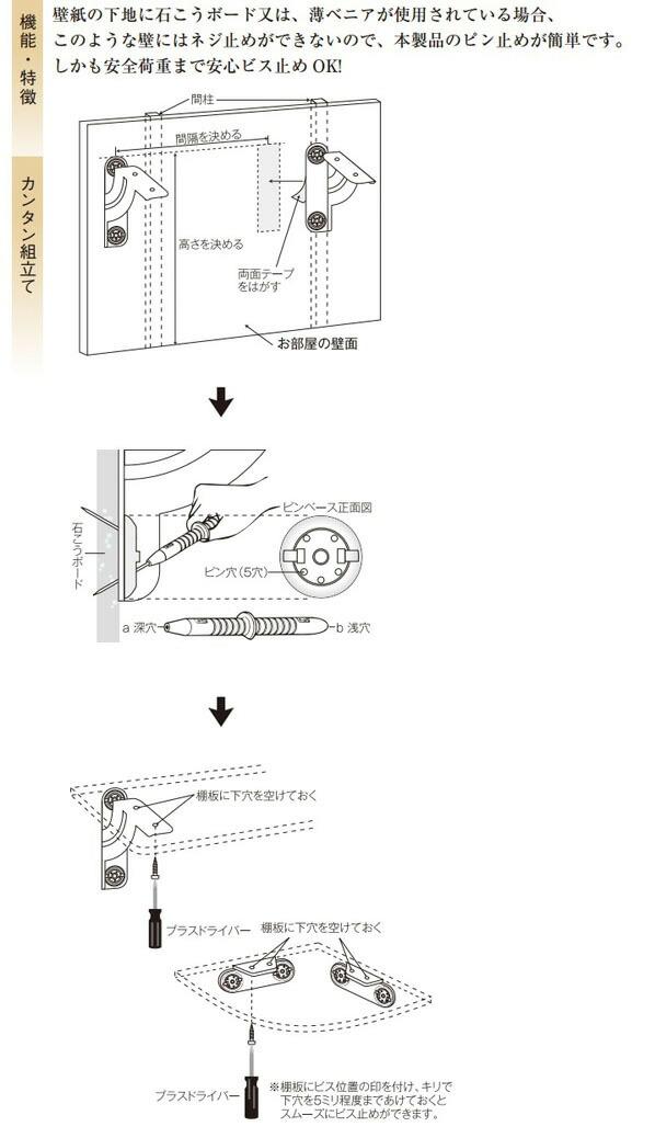 プラスターシェルフ 棚板セット ホワイト コーナー