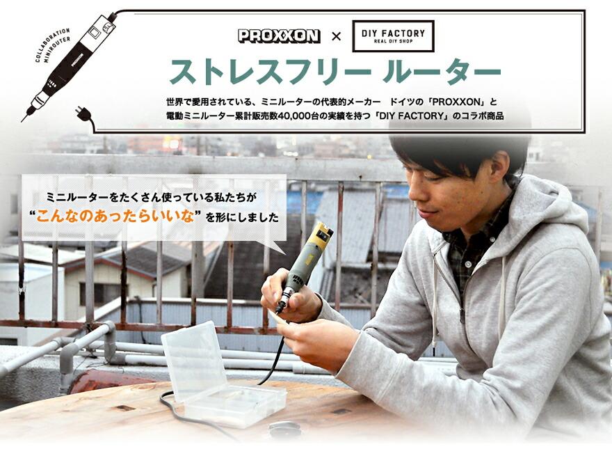 プロクソン DIY FACTORYコラボモデル ストレスフリールーター 各種オプション付セット (No.28523)