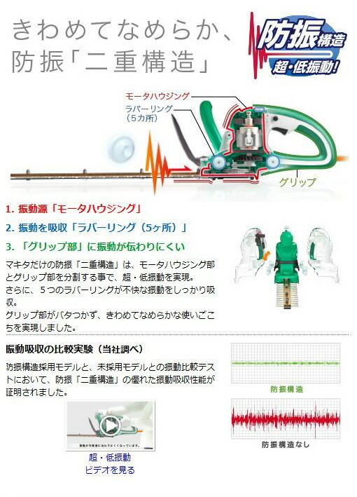 マキタ 生垣バリカン 特殊コーティング刃仕様 350mm (MUH3501)