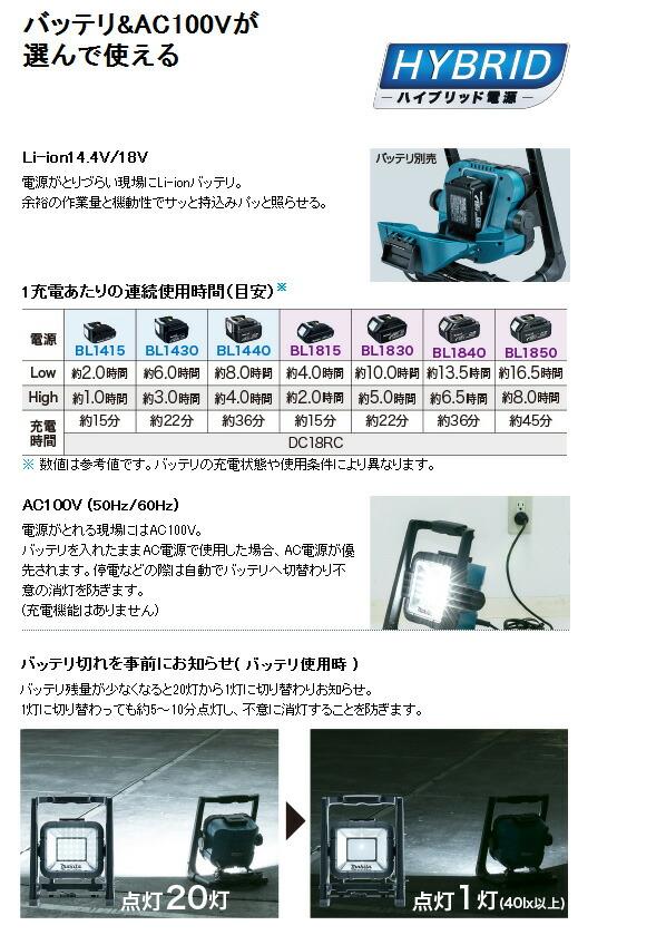 マキタ 充電式LEDスタンドライト ※本体のみ (ML805)