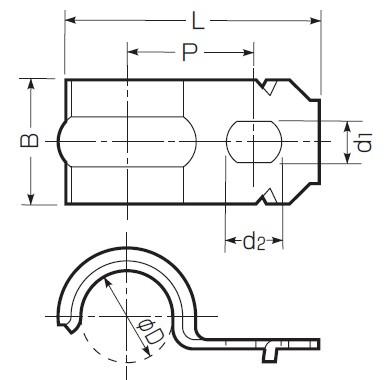 ステンレス片サドル (SVケーブル・キャブタイヤコード・電線管共用)