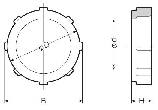 ポリカブッシング (絶縁ブッシング) 厚鋼電線管用