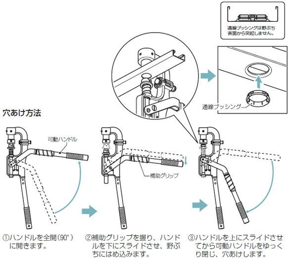 軽天スタッドパンチ( 天井下地部材穴あけ工具)