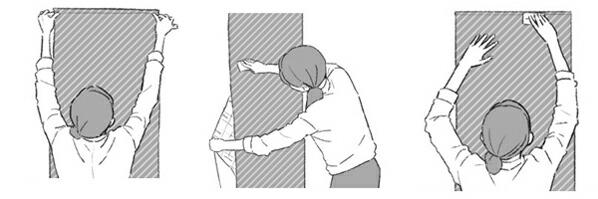 はがせる壁紙RILM 布地系無地 グリーン (rilm-wall-06m-003)