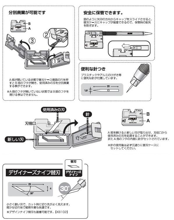 オルファ デザイナーズナイフ 替刃 (XB216)
