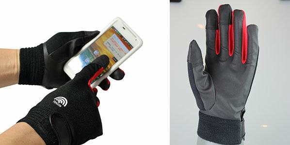 スマートフォン(スマホ)対応 PU(ピーユー)合成皮革作業手袋