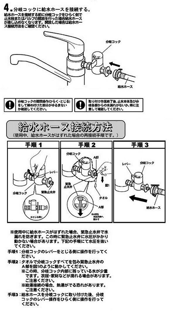 ナニワ製作所 分岐水栓 (AU-ADSET)説明