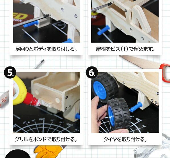 レッドツールボックス モンスタートラック 工作キット (K078)
