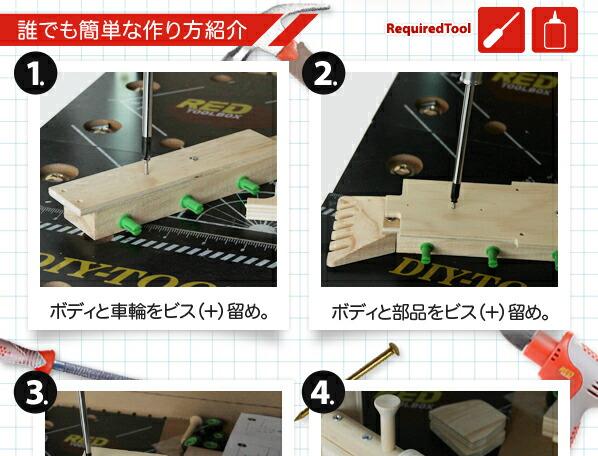 レッドツールボックス 汽車 工作キット (K066)