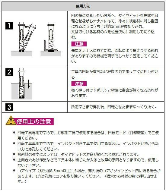 三京ダイヤモンド工業 コンクリートダイヤビット六角軸タイプ 10.0mm (AC-100)