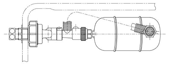 横形ロータンク用ボールタップ