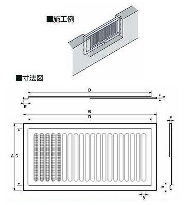 宇佐美工業 ステンレス製 床下換気口 松 (UK-YM2040-SM)