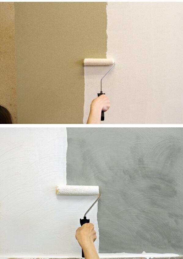 フジワラ化学 ローラーで塗れる かんたんあんしん珪藻土 6坪用 クリーム  10KG (6220300)