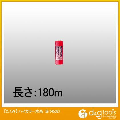 たくみ ハイカラー水糸 赤  4532