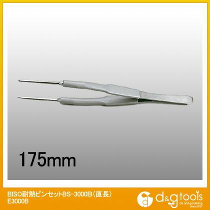 トップウェル 耐熱ピンセットBS-3000B(直長)   E3000B