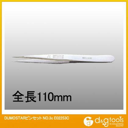 トップウェル DUMOSTAR ピンセット No.3c   E02253C