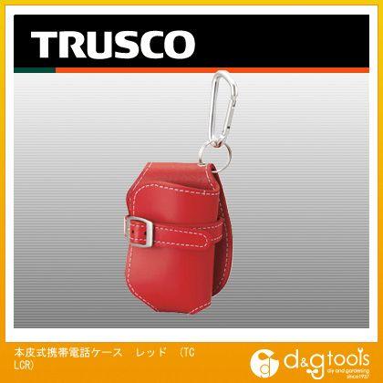トラスコ 本皮式携帯電話ケース レッド   TCLCR  個