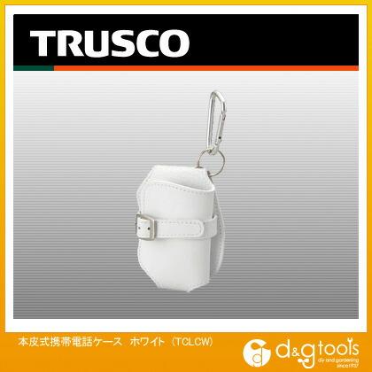 トラスコ 本皮式携帯電話ケース ホワイト   TCLCW  個