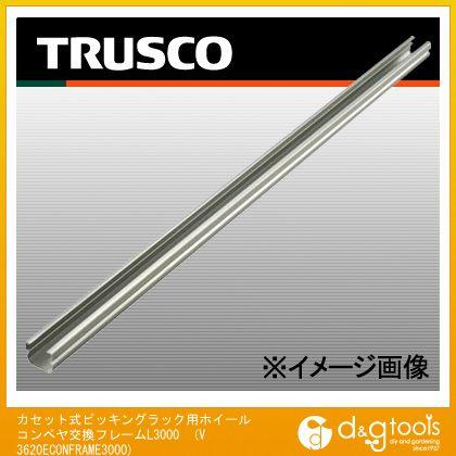 トラスコ カセット式ピッキングラック用ホイールコンベヤ交換フレームL3000   V3620ECONFRAME3000