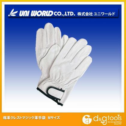 豚革クレストマジック革手袋 M (350-M)