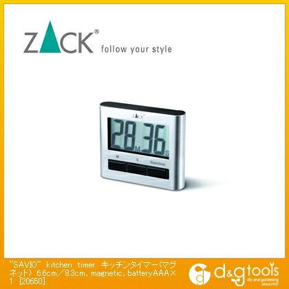 ZACK ステンレス SAVIO kitchen timer キッチンタイマー(マグネット),magnetic,batteryAAA×1  6.6cm/8.3cm 20650