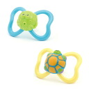 Teething ring Baru's (two sets): Turtle & frog