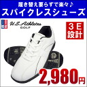 Mens spikeless shoes US athlete USSH-3502 golf shoes U.S.Athletes:
