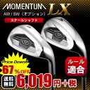 LX iron MOMENTUM-LX has evolved to fly light weight steel shaft mounting option :AW/SW: