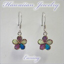 Hawaiian * souvenir Hawaii Anju Elly * pierced earrings (Hawaiian jewelry pieac) hook color opal one point frangipani M/pieac-60m Hawaii * souvenir /hawaii miyage/ Hawaii Anju Elly /Hawaiian jewelry
