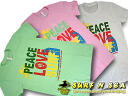 Womens T shirt PEACE LOVE SURF