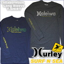 "Collabo 2915spring mens long sleeve T shirt ""Harley, surf and sea',""HALEIWA'"