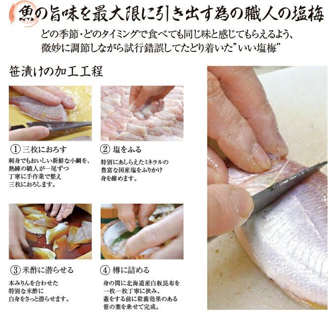 魚の旨味を最大限に引き出す為の職人の塩梅