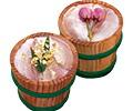 金箔と桜花入笹漬け-大樽2個