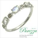 "K10 ロイヤルブルームーンス stone diamond ring ""purezza"""
