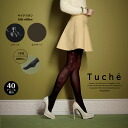 GUNZE gunze Tuche Turner said Ribbon pattern tights 40 denier equivalent tights side Ribbon Ribbon pattern tights 40 denier toe switch without feet-set made in Japan