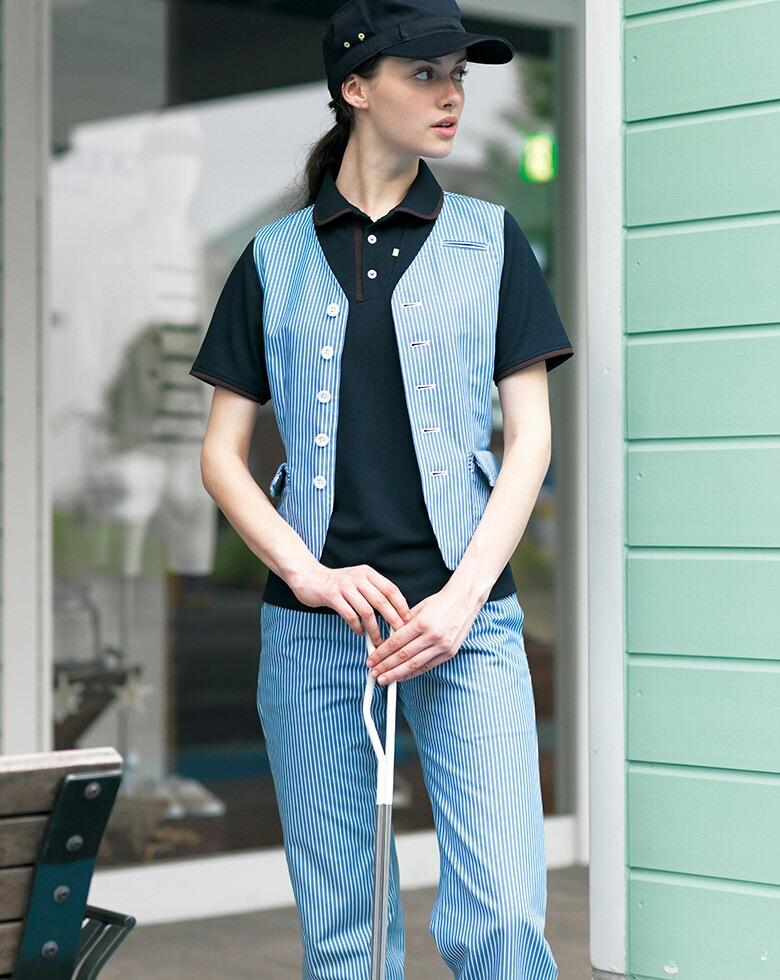 男女兼用半袖ポロシャツ CSP-126 キャリーン