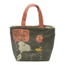 Snoopy ( SNOOPY) lunch bag handy nest Woodstock lunchbag and sub mini tote bag!