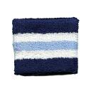 Outlet wristband 6 cm border type (Navy / white / light blue) men's / women's (unisex) unisex